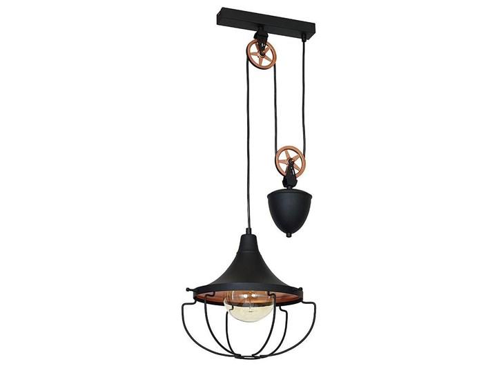 Czarna lampa wisząca - loft (złota), żyrandol 31cm 1xE27, Aldex (Danton) 902G1/S Metal Lampa druciana Lampa z kloszem Ilość źródeł światła 1 źródło Funkcje Możliwość ściemniania