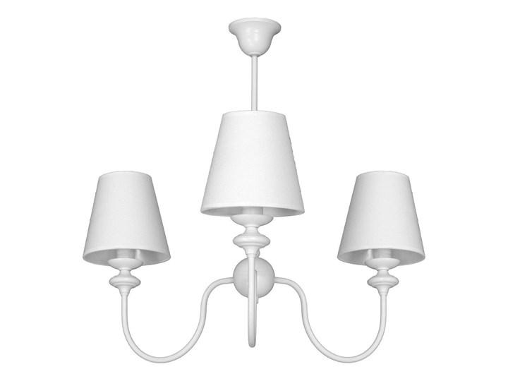 Żyrandol klasyczny małe białe abażury, lampa wisząca, 3xE14, Aldex (Rafaello) 932E Lampa z kloszem Tkanina Metal Lampa z abażurem Kolor Biały