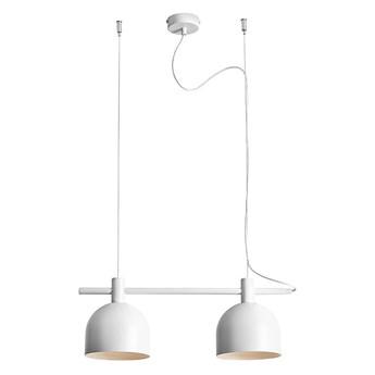 Biała lampa wisząca industrialna, vintage do salonu (2xE27) Aldex (beryl) 976H