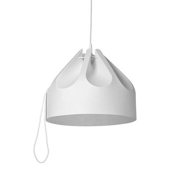 Nowoczesna biała lampa wisząca - duoflex, do salonu, sypialni (1xE27) (Beza 1) Loftlight