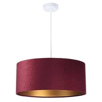 Welurowy abażur Fuksja - bordowa lampa wisząca do salonu, sypialni (kolekcja - Standard, 1xE27) ręcznie robiona
