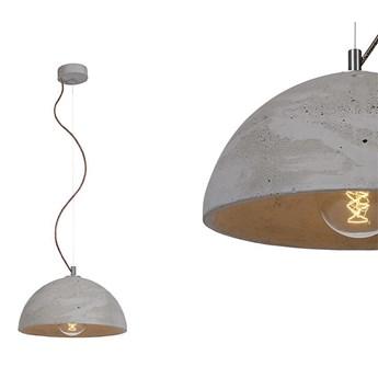 Betonowa lampa - do salonu kuchni, wisząca nowoczesna industrialna (1xE27) (Sfera 32) Loftlight