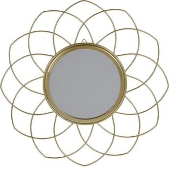 SELSEY Lustro Flowe złote o średnicy 26 cm