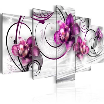 SELSEY Obraz - Orquidiana (perły i kwiaty) 200x100 cm