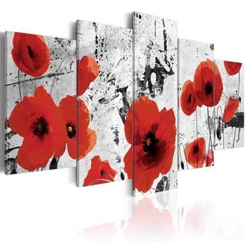SELSEY Obraz - Szkarłatne kwiaty 200x100 cm