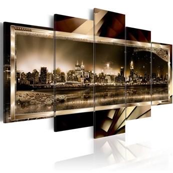 SELSEY Obraz - Nowy jork: gwiaździsta noc - sepia 100x50 cm