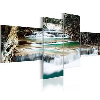 SELSEY Obraz - Leśne kaskady 100x45 cm