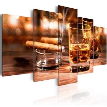 SELSEY Obraz - Whisky i cygaro 200x100 cm
