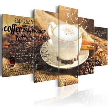 SELSEY Obraz - Coffe, Espresso, Cappuccino, Latte machiato ... 200x100 cm
