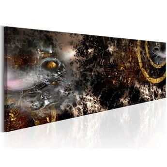 SELSEY Obraz - Złota galaktyka 135x45 cm