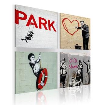 SELSEY Obraz - Banksy - miejskie inspiracje 80x80 cm
