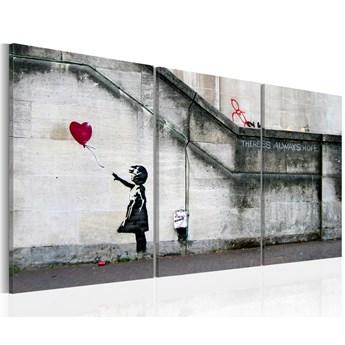 SELSEY Obraz - Zawsze jest nadzieja (Banksy) - tryptyk 60x30 cm