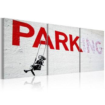 SELSEY Obraz - Dziewczynka na huśtawce (Banksy) 120x60 cm