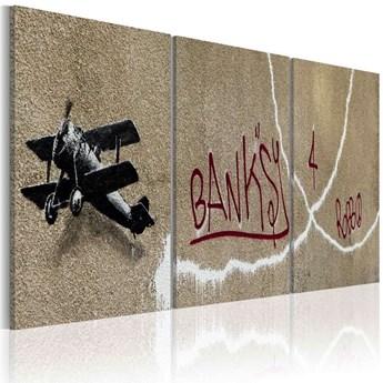 SELSEY Obraz - Samolot (Banksy) 60x30 cm