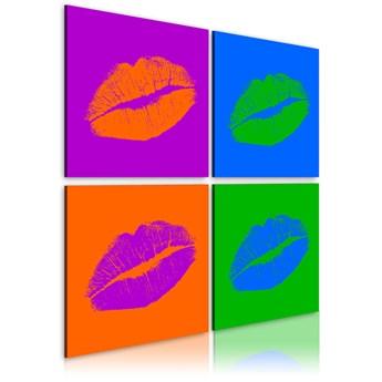 SELSEY Obraz - Pocałunki: Pop art 80x80 cm
