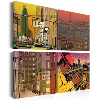 SELSEY Obraz - Może Paryż, może Nowy York... 80x80 cm