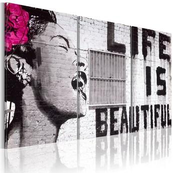 SELSEY Obraz - Szczęśliwa dewiza 60x30 cm