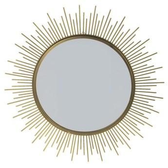 SELSEY Lustro Shine złote o średnicy 40 cm