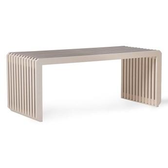 HKLiving- ławka z drewna tekowego z listwami piaskowa