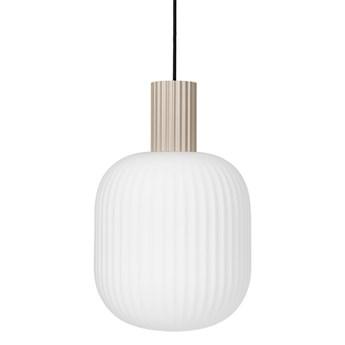 Broste Copenhagen -lampa sufitowa szklana Lolly 42 biało-piaskowy
