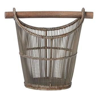 Lene Bjerre- rattanowy kosz z bambusowym uchwytem Norah