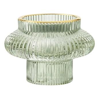 Lene Bjerre- dwustronny świecznik zielony tealight/świeczka Sivia 6,5cm