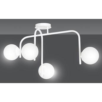KALF 4B WHITE 1031/4B nowoczesna lampa sufitowa biała szklane klosze