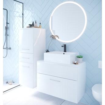 Łazienka BUSTO LED biały połysk