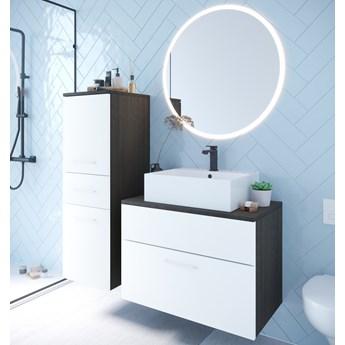 Łazienka BUSTO LED wenge / biały laminat