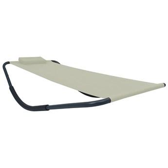 Kremowy leżak plażowy z poduszką - Pafos 5X