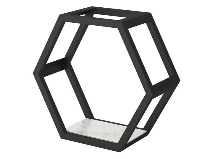SELSEY Półka Liwo w kształcie sześciokąta 40x43 cm Metal Płyta meblowa Stal Drewno Beton Płyta MDF Pomieszczenie półki do salonu