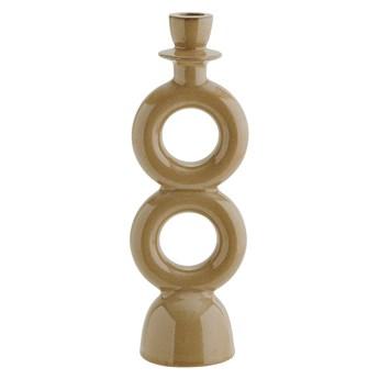 Świecznik Stone 30 cm musztardowy