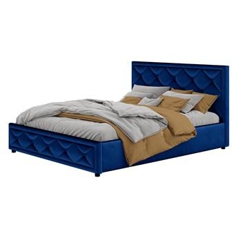 Łóżko tapicerowane 160X200 LB-45 niebieski welur