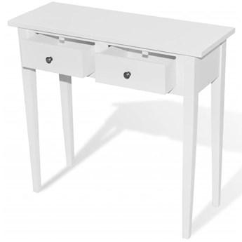 Biała konsola z dwiema szufladami - Adenia