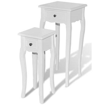 Zestaw dwóch białych stolików - Verin