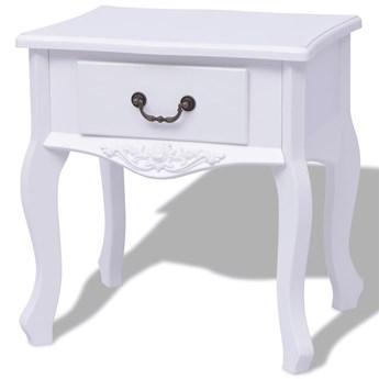 Biała szafka nocna do sypialni - Fenek