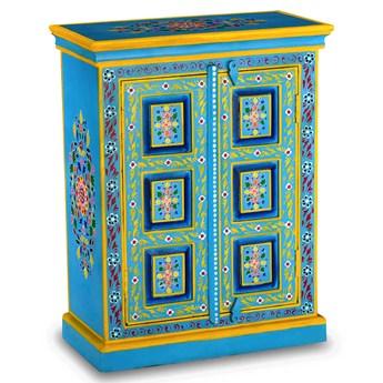 Niebieska drewniana szafka - Vares