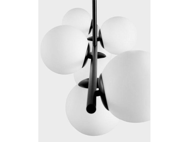 NOWOCZESNA LAMPA WISZĄCA CZARNA FREDICA W7 Szkło Lampa z kloszem Metal Ilość źródeł światła 7 źródeł