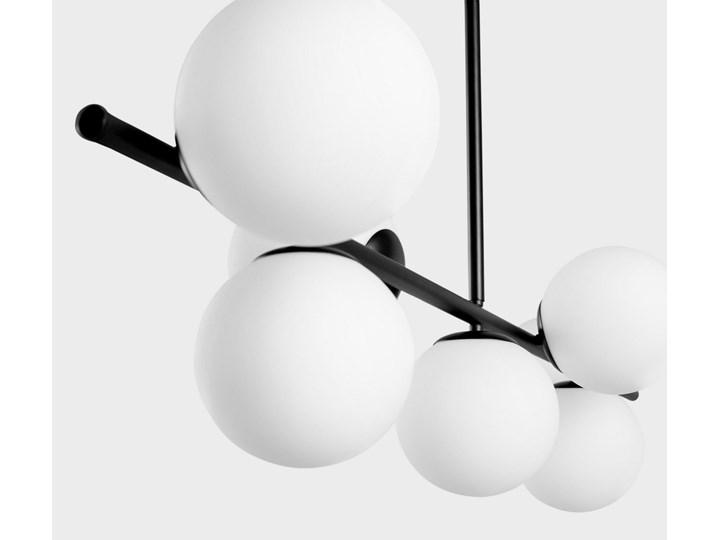 NOWOCZESNA LAMPA WISZĄCA CZARNA FREDICA W7 Metal Szkło Lampa z kloszem Ilość źródeł światła 7 źródeł