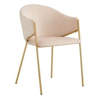 Krzesło Glamour beż DC-890 / złote nogi