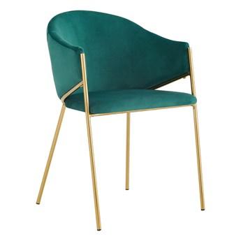 Krzesło Glamour zielone DC-890 / złote nogi
