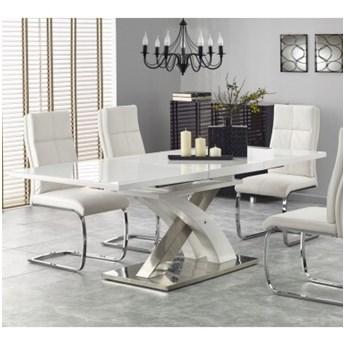 Stół do Jadalni SANDOR 2 Biały Rozkładany Glamour