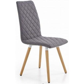 Krzesło Tapicerowane K282 Szare do Jadalni