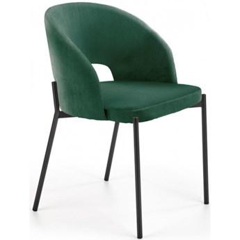 Krzesło Tapicerowane K455 Zielone Welur do Salonu