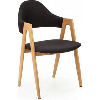 Krzesło Tapicerowane do Jadalni K344 Czarne Loft