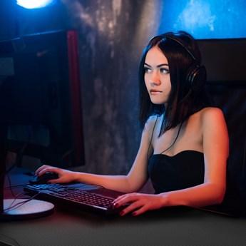 Biurko gamingowe dla gracza LED ULT 258200