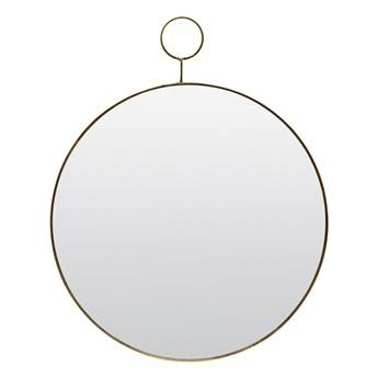 House Doctor - Okrągłe lustro z pętelka z mosiądzu M