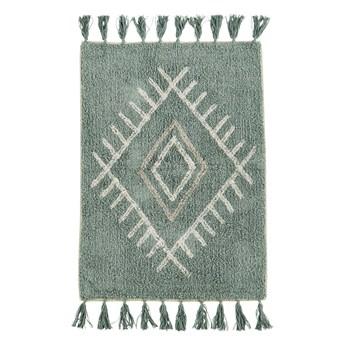 Madam Stoltz – Dywanik bawełniany z frędzlami 90 x 60