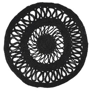Podkładka pod talerz okrągła ażurowa DUKA BOHO 45 cm czarna jutowa