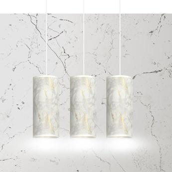 KARLI 3 WH MARBEL WHITE lampa wisząca abażury regulowana nowoczesna